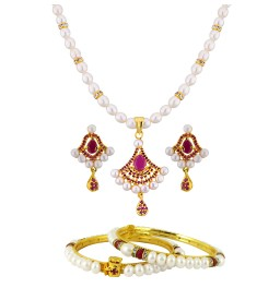 Necklace Set With Bangle Combo