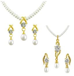 Set of 2 pearl Pendant Set