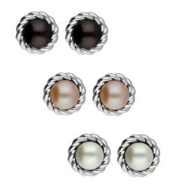 Set of 3 multi-colour Pearl...