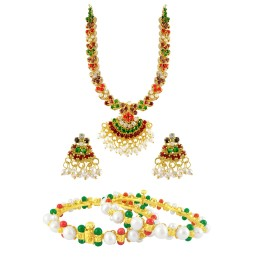 Multi-Colour stone Necklace with...