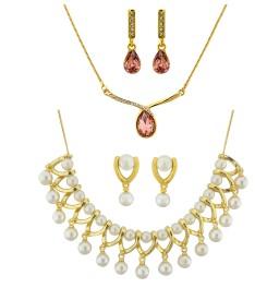 Set of 2 Trendy necklace set