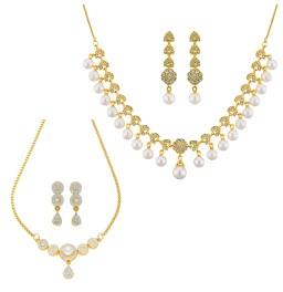 Set of 2 Fashion Necklace Set