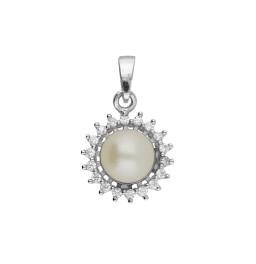 92.5 Silver Classic CZ Pearl...