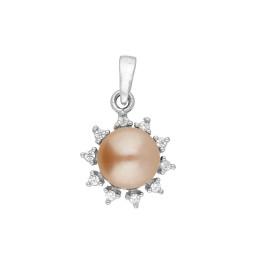 92.5 Silver Flower Pearl Pendant