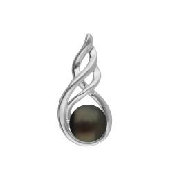 92.5 Silver Sleek Pearl Pendant