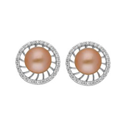 92.5 Silver Pink Pearl Studs