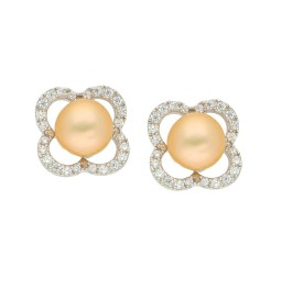 92.5 Silver Lovely Pink Pearl Studs
