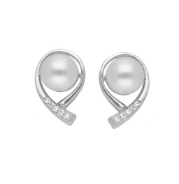92.5 Silver Choice Pink Pearl Studs