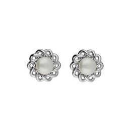 92.5 Silver Flower White Pearl...