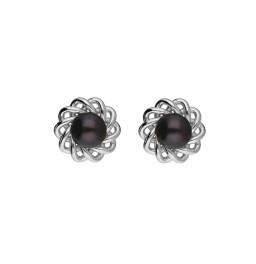92.5 Silver Flower Black Pearl...