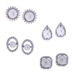 Combo of 4pair Fashionable Earrings