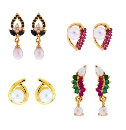 Combo Of 4Pair Colorful Earrings