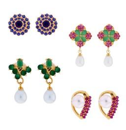 Combo Of 4Pair Daily Wear Earrings