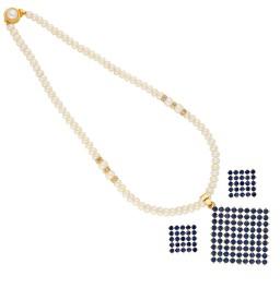 Blue Diamond Shape Pearl Pendant...