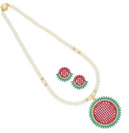 Colourful Circular Pearl Pendant...