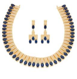 Blue Cz Choker Necklace