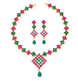 Ujwala Ruby Emerald Necklace