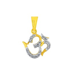 Lotus Ganesh Diamond Pendant
