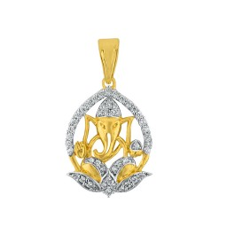 Lotus Pitambara Diamond Pendant