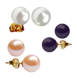 Multi Color Pearl Studs