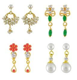 Designer Pearl Earrings Sets