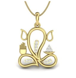 Ganesha Gold & Diamond Pendant