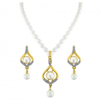 479f5cb5ea14a Buy the Best Charmful Pearl Pendant Set At Sri Jagdamba Pearls