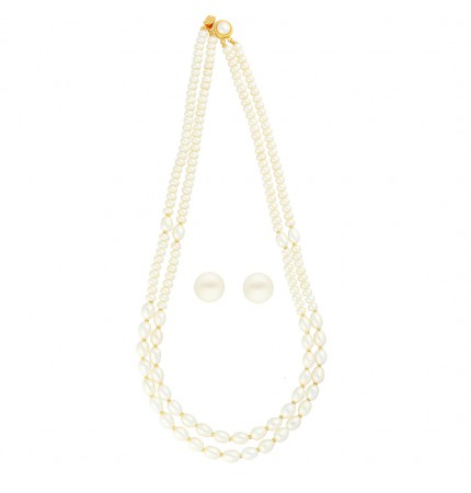 Amazing Pearls Of Two Line Necklace