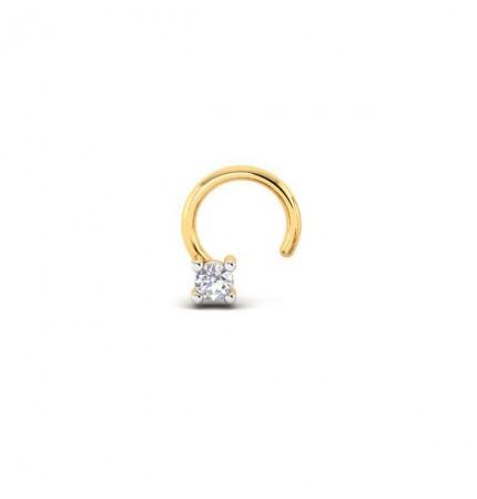 18kt Simple Diamond Nose Pin
